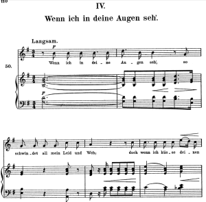 wenn ich in deine augen seh op.48 no.4, high voice in g major, r. schumann (dichterliebe), c.f. peters