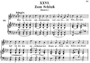zum schluss op.25 no.26, high voice in a-flat major, r. schumann (myrthen), c.f. peters