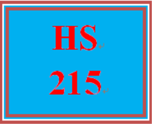 HS 215 Week 1 Mandatory Discussion Question | eBooks | Education