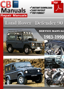 land rover defender 90 1983-1990 service repair manual