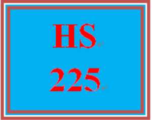 HS 225 Week 3 Student Reflection, Week 3 | eBooks | Education
