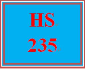 HS 235 Week 3 Public Assistance Program Review   eBooks   Education