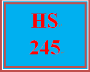 HS 245 Week 1 Supporting Activity: Reading and Discussion | eBooks | Education