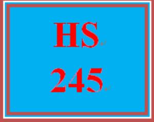 hs 245 entire course