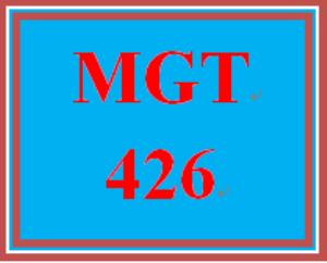 mgt 426 week 1 change examination