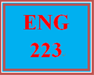 ENG 223 Week 2 Final Project: Report Topic Selection | eBooks | Education