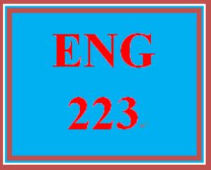 ENG 223 Entire Course | eBooks | Education