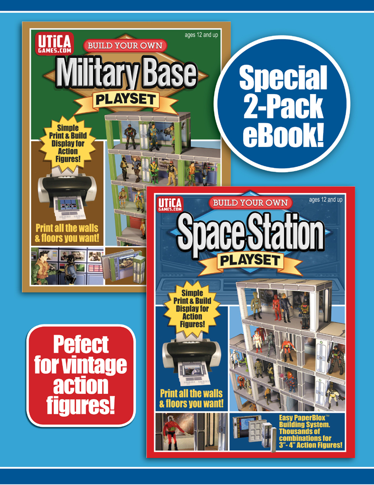 Fourth Additional product image for - 2 PACK SPECIAL! Print & Build Your Own Space Station & Military Playsets