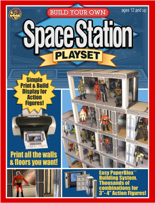 First Additional product image for - 2 PACK SPECIAL! Print & Build Your Own Space Station & Military Playsets