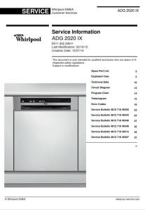 Whirlpool ADG 2020 IX Dishwasher Service Manual | eBooks | Technical