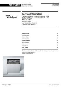 Whirlpool ADG 5520 Dishwasher Service Manual | eBooks | Technical