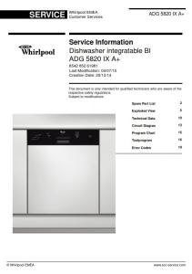 Whirlpool ADG 5820 IX A+ Dishwasher Service Manual | eBooks | Technical