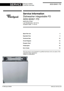 whirlpool adg 6240/1 fd dishwasher service manual