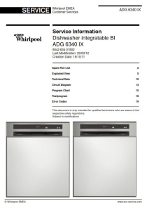 Whirlpool ADG 6340 IX Dishwasher Service Manual | eBooks | Technical
