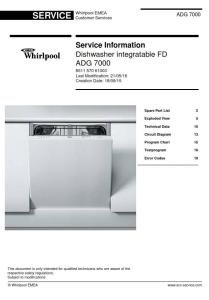 Whirlpool ADG 7000 Dishwasher Service Manual | eBooks | Technical