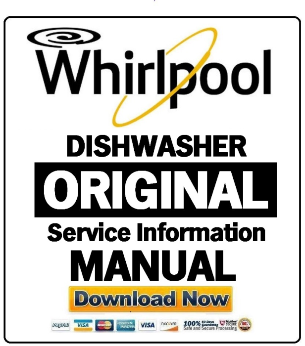First Additional product image for - Whirlpool ADP 200 WH Dishwasher Service Manual