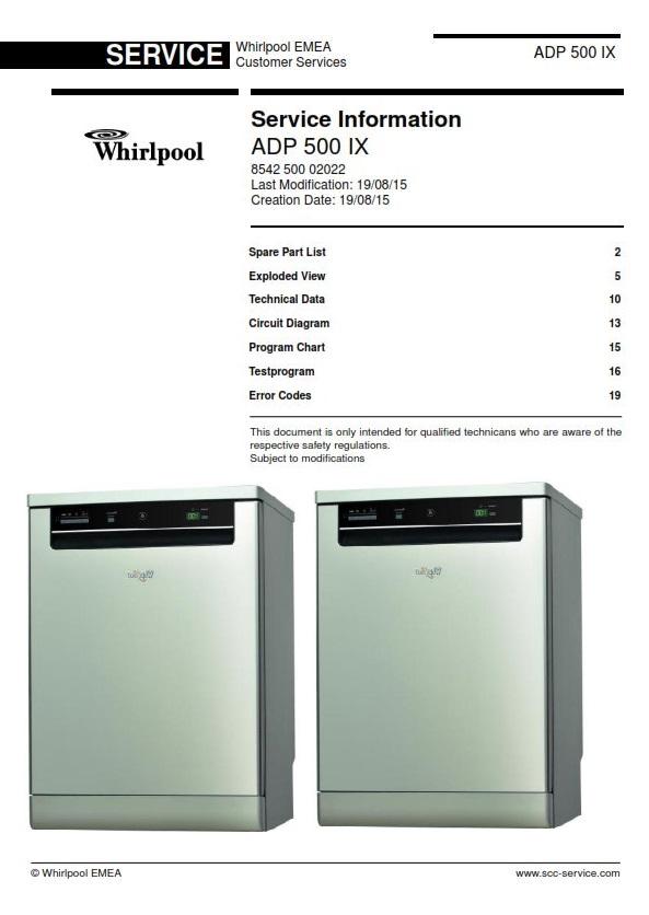 Whirlpool adp 500 ix dishwasher service manual ebooks technical fandeluxe Gallery