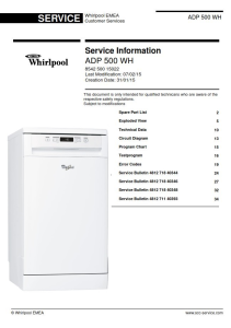Whirlpool ADP 500 WH Dishwasher Service Manual | eBooks | Technical
