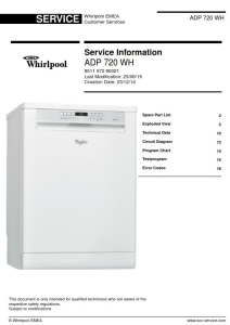 Whirlpool ADP 720 WH Dishwasher Service Manual | eBooks | Technical