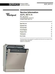 Whirlpool ADPL 9874 IX Dishwasher Service Manual | eBooks | Technical