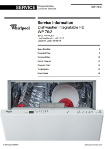 Whirlpool WP 76/3 Dishwasher Service Manual | eBooks | Technical