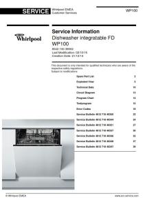 Whirlpool WP100 Dishwasher Service Manual   eBooks   Technical