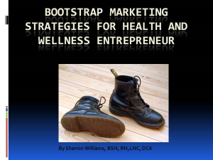 bootstrap marketing