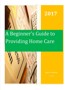 a beginner's guide to homecare