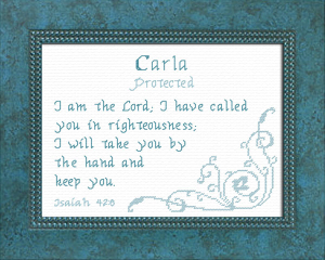 Name Blessings - Carla | Crafting | Cross-Stitch | Religious