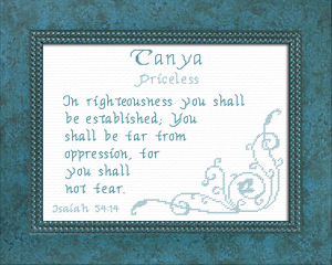 Name Blessings - Tanya | Crafting | Cross-Stitch | Religious