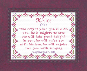Name Blessings - Khloe | Crafting | Cross-Stitch | Religious
