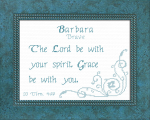 Name Blessings - Barbara 4 | Crafting | Cross-Stitch | Religious