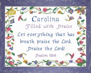 Name Blessings - Carolina | Crafting | Cross-Stitch | Religious