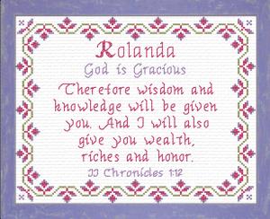 Name Blessings - Rolanda | Crafting | Cross-Stitch | Religious