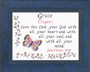 Name Blessings - Grace 3 | Crafting | Cross-Stitch | Religious