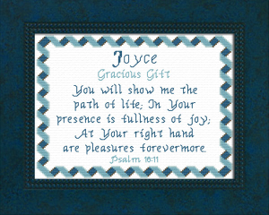 Name Blessings - Joyce | Crafting | Cross-Stitch | Religious