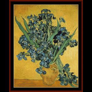 Irises (Amsterdam) - Van Gogh cross stitch pattern by Cross Stitch Collectibles | Crafting | Cross-Stitch | Wall Hangings