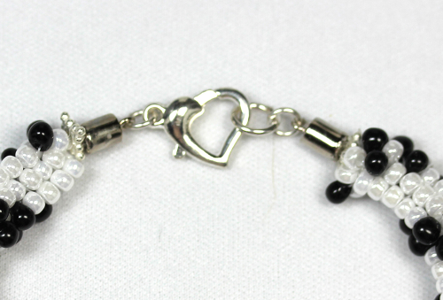 First Additional product image for - Kumihimo Double Braid w/SS Spacer Beads