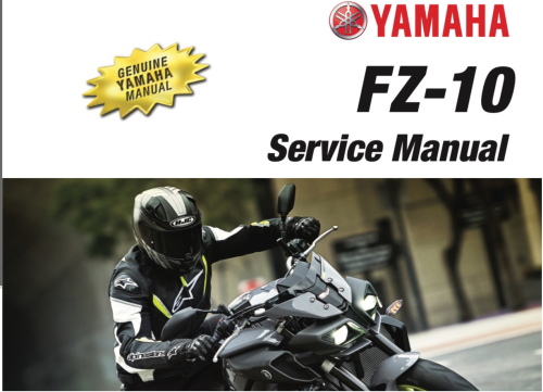 First Additional product image for - Yamaha FZ-10 2017 Service Repair Workshop Manual