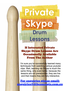 private skype drum lessons (when available)