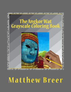 the angkor wat grayscale coloring book