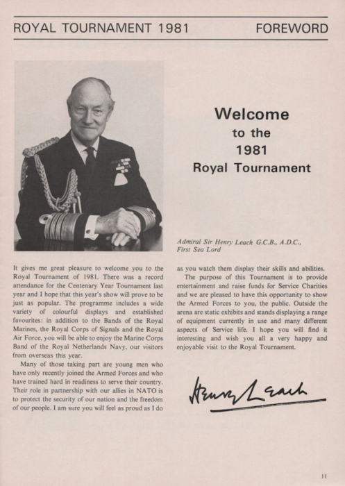 Third Additional product image for - The Royal Tournament 1981 - London's Great Military Tattoo