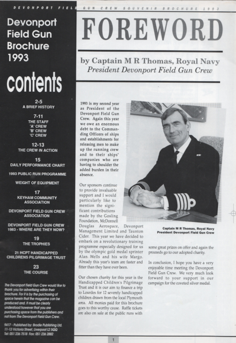 Second Additional product image for - 1993 Royal Tournament Programme Devonport Field Gun Crew