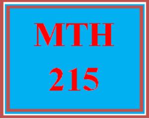 MTH 215 Week 1 Summary R3.2 | eBooks | Education