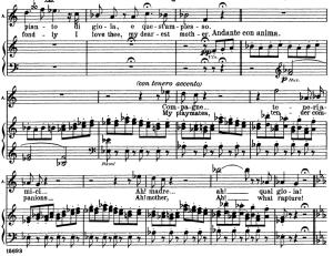 compagne...come per me serena. aria for soprano (amina). v. bellini: la sonnambula, vocal score. ed. schirmer (1902). italian/english