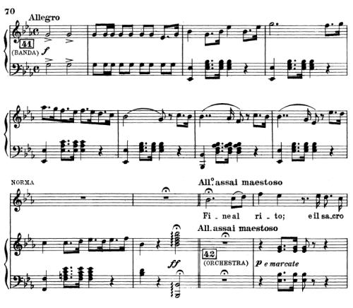 First Additional product image for - Fine al rito... Ah bello a me ritorna. Aria for Soprano (Norma). G. Bellini: Norma, Vocal Score, Ed. Ricordi (PD