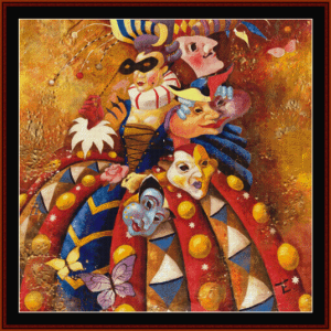 carnivale - fantasy cross stitch pattern by cross stitch collectibles