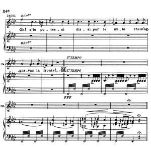 oh! s'io potessi dissipar le nubi. aria for soprano (imogene). v. bellini: il pirata, (final scene). vocal score, ed. ricordi (pd). italian.