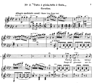 Tutto e gioia, tutto e festa. Aria for Soprano (Lisa). V. Bellini: La Sonnambula, Vocal Score, Ed. Schirmer (1902). Italian/English | eBooks | Sheet Music