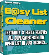 E@sy List Cleaner (Cleans ANY Email List Of All Duplicates In Seconds) | Software | Internet